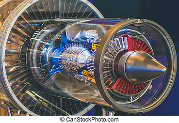 Engine aircraft industry construction without protective covers.