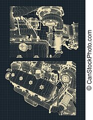 Engine Blueprints illustration