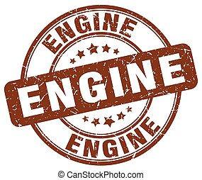 engine brown grunge stamp