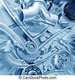 Engine - Car engine part - Close up image of an internal...