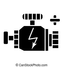 engine car icon, vector illustration, black sign on isolated background