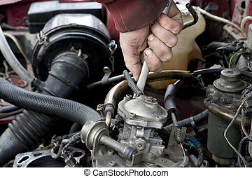 engine check up - Check out of broken car engine