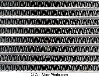 Engine cooling radiator - Texture of the old engine cooling...