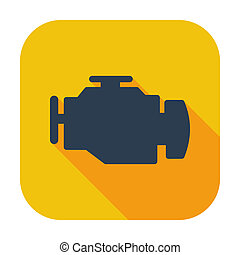 engine - Engine. Single flat color icon. Vector illustration...