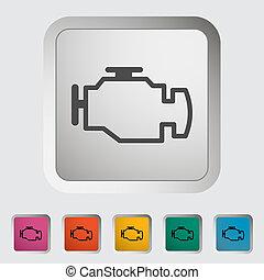 Engine. Single icon. Vector illustration.