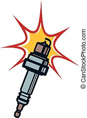 Ignition Spark Plug - Illustration