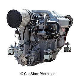 engine., isolado, branca