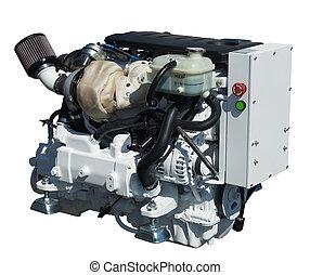 engine., isolato, sopra, bianco