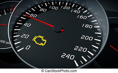 Check Engine Light Symbol Image Of Auto Spare Parts On Picture