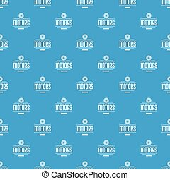 Engine motor pattern vector seamless blue