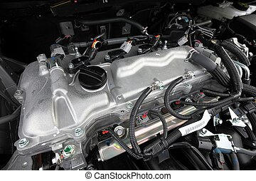 Engine of a new car