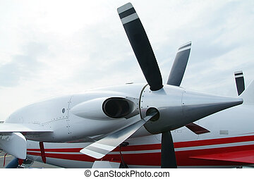 Engine of business aircraft - Turboprop engine of Italian...