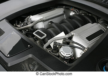 engine of powerful car