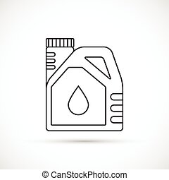 Engine oil outline icon
