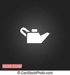 Engine oil. Single flat icon. Vector illustration.