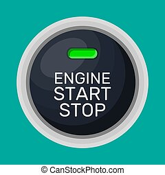 Engine start and stop button.
