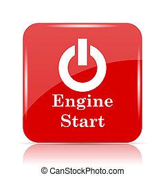 Engine start icon. Engine start website button on white ...