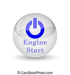 Engine start icon. Internet button on white background.