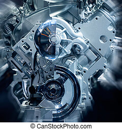 Engine - The car's engine closeup