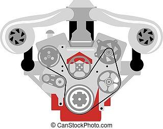 Engine Twin Turbo