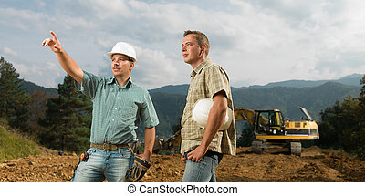 engineer and architect at work