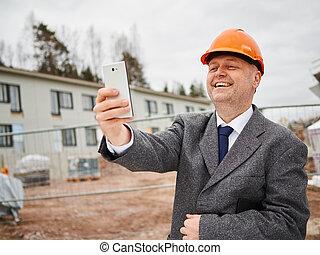 Engineer and selfie