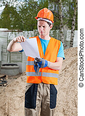 Engineer at building site