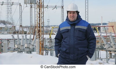 Engineer at electric power station