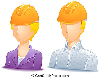 Engineer Avatars with Clipping Path