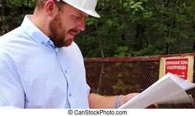 engineer checks the quality of the gas pipeline