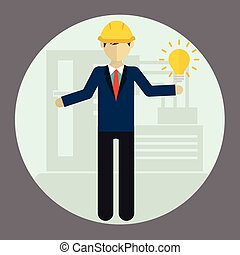 Engineer construction industrial factory manufacturing worker