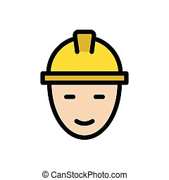 engineer  flat color icon