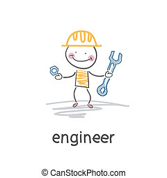 engineer., illustration