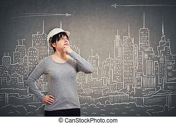 engineer imaginary city