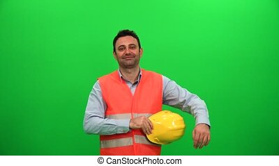 Engineer on Green Screen