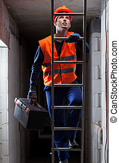 Engineer on the ladder