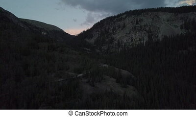 Engineer Pass Colorado after Sunset Aerial - Engineer Pass...