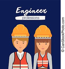 engineer profession design, vector illustration eps10 ...