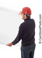 Engineer, showing a white paper