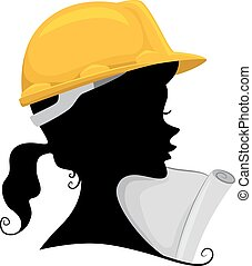 Engineer Silhouette - Illustration Featuring the Silhouette...