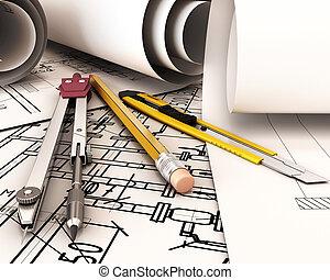 engineer., skrivbord
