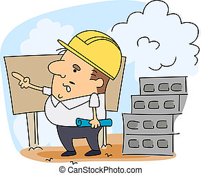 Engineer - Illustration of an Engineer at Work