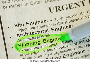Engineer wanted