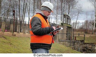 Engineer with documentation