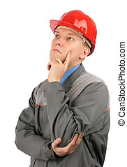 Engineer with red hat