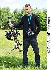 Engineer With UAV Drone And Remote Control