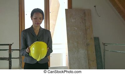 Engineer Woman Construction Site