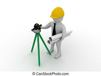 engineer worker concept