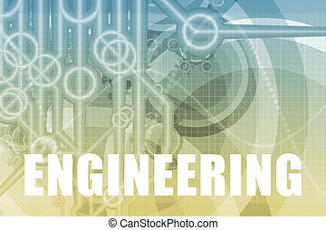 Engineering Tech Abstract Background in Blue Color