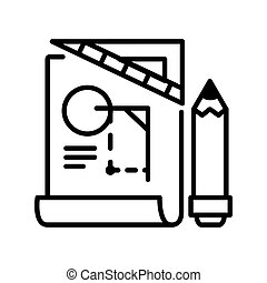 engineering blue print illustration design